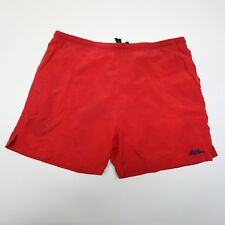 No Fear Men's XL Red Nylon Elastic Waist Drawstring Swim Trunks Board Shorts EUC