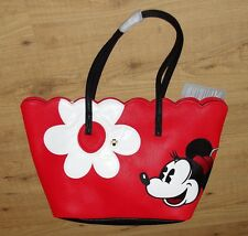 Disney Store Tote Bag Girly Flower Minnie Mouse Red white Flowe Handbag adult