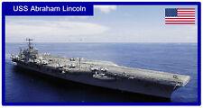 USS ABRAHAM LINCOLN - JUMBO FRIDGE MAGNET - BRAND NEW