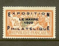 """FRANCE STAMP TIMBRE N° 257A """" EXPOSITION PHILATELIQUE DU HAVRE 1929"""" NEUF xx TB"""