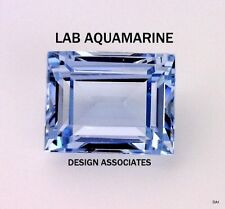 MAN MADE AQUAMARINE 14X12 MM BAGUETTE CUT  OUTSTANDING COLOR AAA