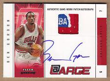 04-05 2004-05 Fleer Genuine At Large Ben Gordon NBA Logoman Patch Auto RC /30