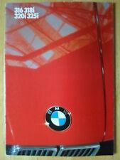 BMW 3 SERIES SALOONS 1985 1986 UK Mkt Sales Brochure Prospekt - E30 325i 320i