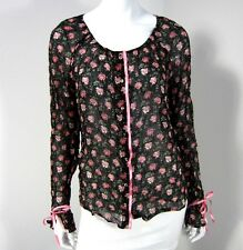 ROZE NWT LONG SLEEVE 100% VISCOSE BLOUSE SIZE 38, MULTICOLORED FLORAL