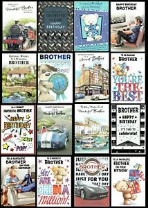 BROTHER ~ QUALITY BIRTHDAY CARD choice of Designs Cute Traditional