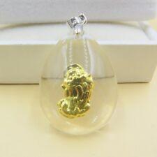 NEW Pure 999 Gold Pi Xiu Man-made Crystal Pendant