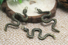 10pcs Snake Charms Antique Tibetan bronze Tone Large Snake charm pendant 54x25mm