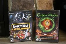 ANGRY BIRDS STAR WARS & GREEN MOON 2 GAMES PC CD-ROM