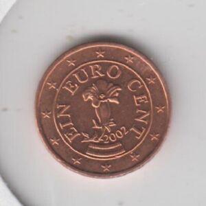 AUTRICHE - 1 cent + 2 cents + 5 cents 2002