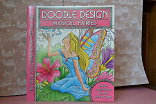 MAGICAL FARIES-DOODLE DESIGN-ADULT COLOURING BOOK-ART THERAPY-ANTI STRESS