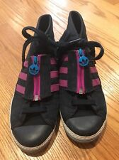the best attitude 13bcd 81f71 ADIDAS Basketball Hi Tops Hard Court FUCHSIA Stripe Sneakers Womens Shoes  Sz 8