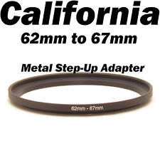 Metal 62mm-67mm Step-Up Lens Filter Ring Adapter Canon Nikon Sony Pentax 62- 67