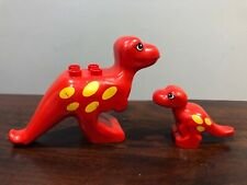 Lego Duplo Dinosaurs Dino Mom Dad Parent Baby Red T-Rex Mother Tyrannosaurus