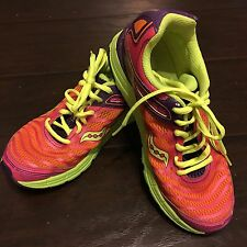 Saucony Women's Size 4.5M G Kinvara 3 Athletic Running Shoes Pink Coral Purple