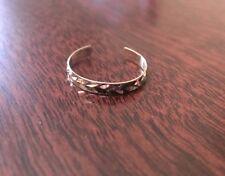 14k Yellow Gold Diamond Cut Adjustable Toe Ring (2mm)