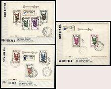 Kambodscha Khmere 1957 Block 4-6 auf Einschreiben Luftpost Briefen in die USA/ 6