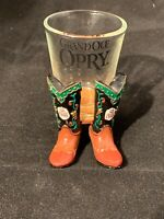 Grand Ole Opry shot glass with boots ships free