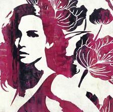 Wand Bild Melissa Pluch Frau Digitale Kunst Bordeauxrot 49x49x1,2 cm A6YY