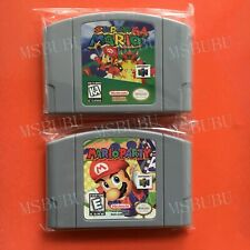 Two Games Super Mario 64 & Mario Party 1 - For Nintendo 64 Video Cartridge N64