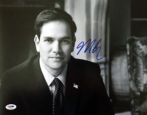 MARCO RUBIO SIGNED AUTOGRAPHED 11x14 PHOTO 2016 PRESIDENTIAL CANDIDATE PSA/DNA