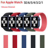 iWatch Braided Solo Loop Strap For Apple Watch Band 44mm 40mm 38mm 42mm Silicone