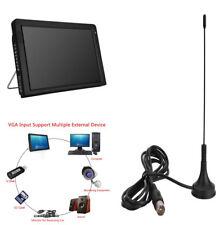 """12"""" Portable Voiture Couleur TFT-TV DEL ATV Player PVR Signal DVB-T2 Télécommande"""