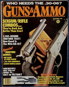 Magazine GUNS & AMMO November 1986 MITCHELL Heavy Barrel AK-47 Light Machine GUN