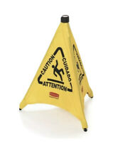"""Rubbermaid 9S01 FG9S0100YEL 30"""" Pop-Up Safety Cone Wet Floor Symbol Caution! NEW"""