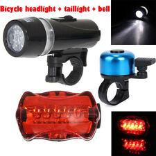 Waterproof Lamp Bike Bicycle Front Led Head Light & Rear Safety Flashlight Set