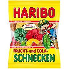 HARIBO of Germany: Frucht & Cola Schnecken /Fruit & Cola snails gummy bears