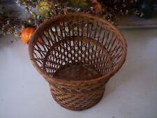 Handmade Basket/Vintage biamboo Traditional basket/Country basket/Holiday basket