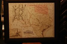 1866 MAP of TEXAS NEW MEXICO & INDIAN TERRITORY FRANCIS McNALLY ATLAS