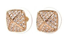 Earrings Gold Authentic New 7312a Swarovski Elements Crystal Tactic Stud Pierced