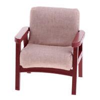 1:12 Dollhouse Miniature Living Room Furniture Wood Single Sofa Chair Yellow