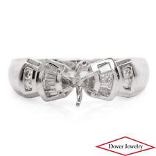 Estate Diamond Platinum Elegant Engagement Ring Mounting 7.9 Grams NR