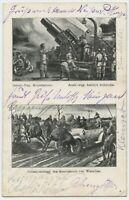 K.u.K 1915 Patriotic Austrian Soldiers WW1 Feldpost Postcard (2123)