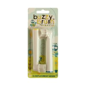 💚 Jack N Jill Natural Buzzy Brush Replacement Heads Electric Toothbrush 2pack