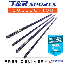 2x T&R Classic Graphite Billiards / Snooker / Pool Cue 2-piece 57 Inch Purple AU