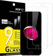 Protector de Pantalla para iPhone 7 y iPhone 8,NEW'C 2 Unidades,
