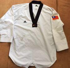Adidas Taekwondo Gray Uniform World Taekwondo Federation Size 4 (180cm)
