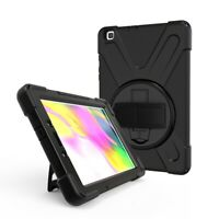 TUFF LUV Armour Jack Case & Stand for Samsung Galaxy Tab A 8.0 T295 T290 - Black