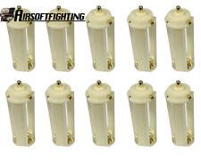 10pcs AAA To 18650 Battery Converter Adaptor Holder Case for Flashlight White