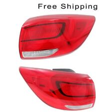 Tail Lamp Assembly Set of 2 LH & RH Side Outer Fits Kia Sportage EX & LX Models