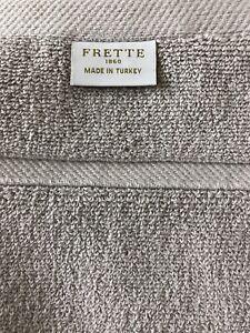 "One Frette Lanes Border Fume Gray Grey Bath Towel New 4 available   28"" x 56"""