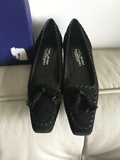 Russell & Bromley black Suede Court Shoes size 4 UK