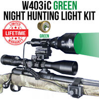 Wicked Lights W403iC GREEN Night Hunting Light Kit for Coyotes, Hogs W2012