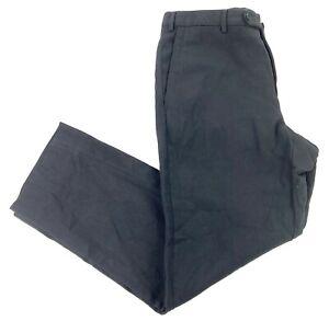 Ermenegildo Zegna Men's Wool Flat Front Dress Pants Black • 34x30