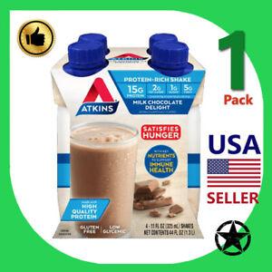 1 Pack Atkins Protein Rich Shake Milk Chocolate 4-11 fl oz