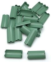 Lego 25 New Sand Green Cylinder Quarter 2 x 2 x 5 Panel Pieces