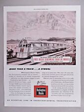 Burlington Route Pioneer Zephyr PRINT AD - 1944 ~ First Diesel Streamlined Train